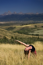 Bridget Lyons backbend nature