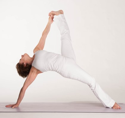 Michelle Marchildon yoga pose