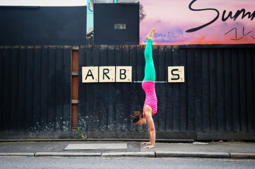 Kristi Johnson photographed by Karen Yeomans, specialist in Sports, Fitness, Health, Well-being and Yoga Photography. Based in London.